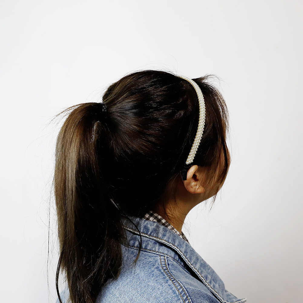 Baru Mewah Besar Mutiara Headband Wanita Bunga Matahari Hoops Gadis Rambut Aksesoris Fashion Perhiasan Accesorios untuk El Cabello Mujer