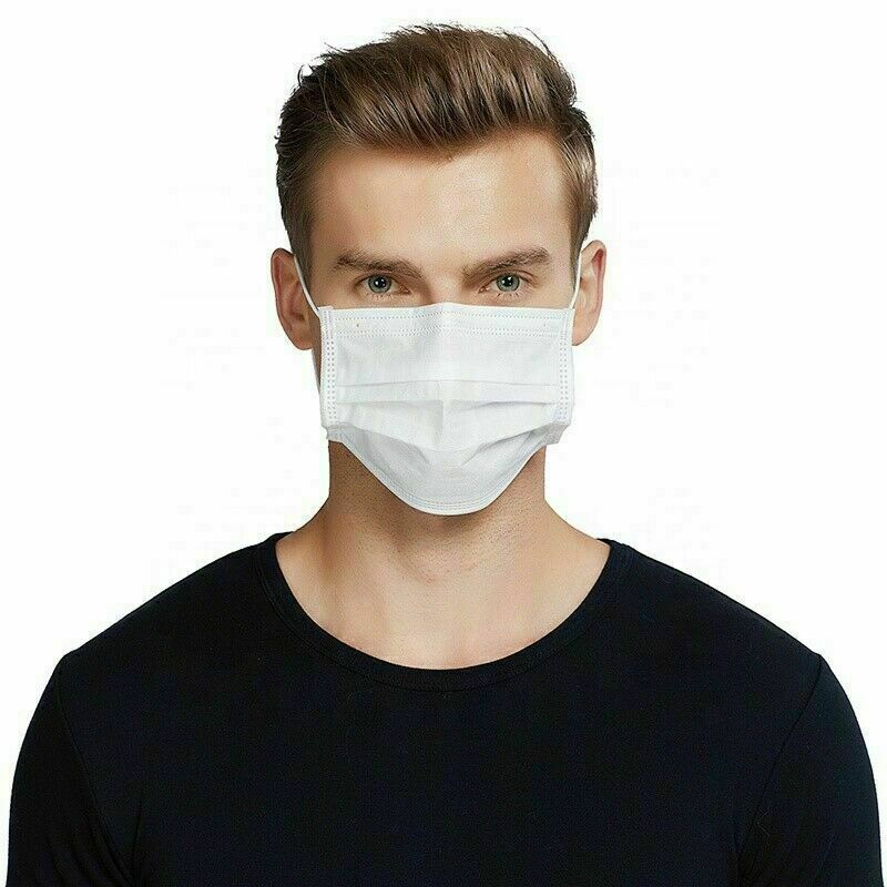 10pcs 3-Layer Disposable Dust Mask Dustproof Masks Nonwoven Fabric Mouth Face Masks Anti-Dust White