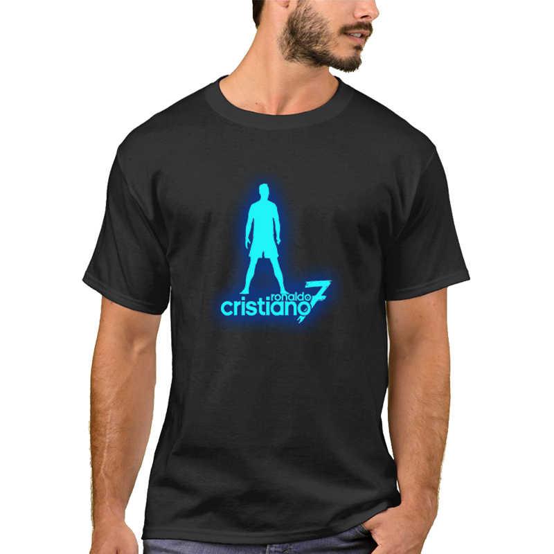 Lytlm Cristiano Ronaldo T Shirt Jatuh Lus Ukuran Atasan Pria Pakaian Pria Casul 100% Kapas Pria Lengan Panjang T Kemeja Cahaya dalam Gelap Tees