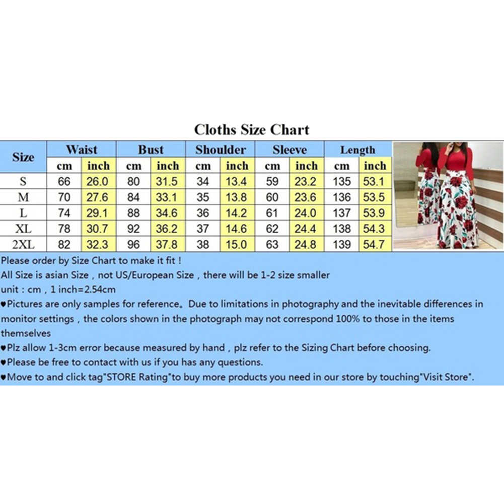 Fiore di Estate Del Puntino di Stampa di Colore di Corrispondenza Manica Lunga a Vita Alta Delle Donne Maxi Vestito Delle Donne Materiale di Seta Del Latte a Maniche Lunghe intorno Al Collo