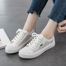 2019 New Spring Autumn Women Vulcanized Sneakers Breathable Flat Casual Classic Shoes Woman Canvas C0090