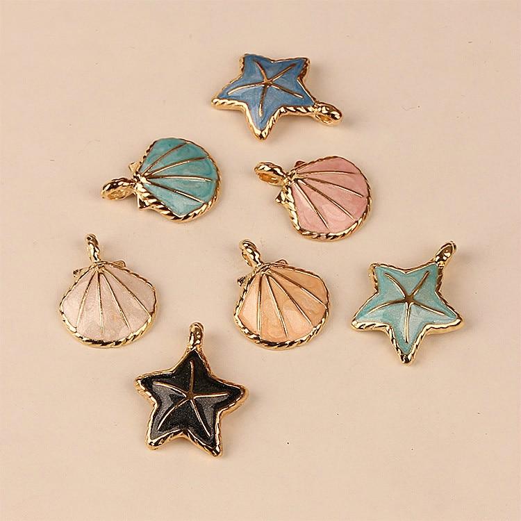 Diy Jewelry Accessories Drop Alloy Pendant Bracelet Pendant Material Shell Scallop Small Starfish
