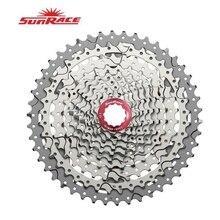 Sunrace CSMX3 CSMS3 10速度11 46カセット自転車フリーホイールスプロケットマウンテン自転車カセット黒スライバーバイク部品10の速度