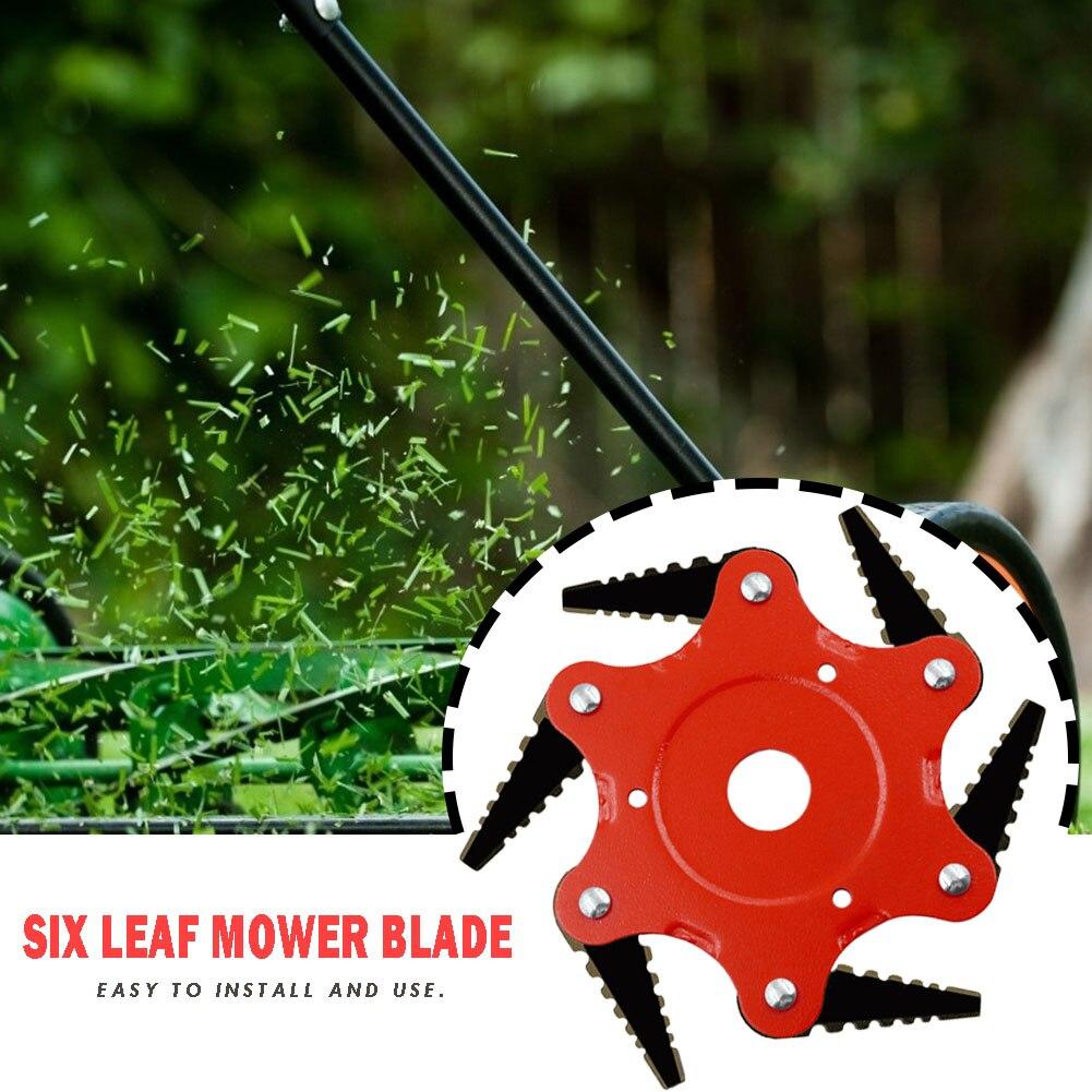 Hot Sale 65Mn Manganese Steel Cutter Blade 6 Teeth Grass Durable Trimmer Head Lawn Weeding Garden Tools Accessories