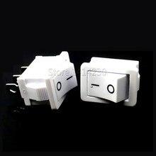 10PCS Rocker Switch 15*21mm 3PIN SPST ON/OFF Rocker Switch 6A/250V 10A/125V 15X21mm White