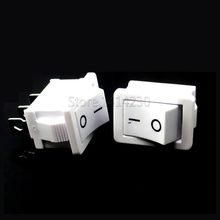 10 sztuk przełącznik Rocker 15*21mm 3PIN SPST ON/wyłącznik kołyskowy 6A/250V 10A/125V 15X21mm biały