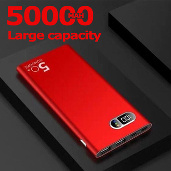 50000mAh Power Bank Portable Phone Charger for Xiaomi Samsung IPhone 2 USB Large Capacity Digital Display Outdoor Powerbank 1
