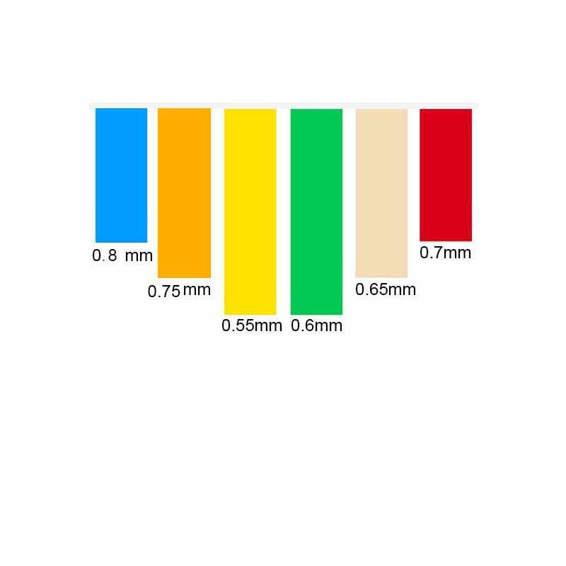 3pcs slingshot 사냥 플랫 가죽 tendons 그룹에 강한 전통적인 천연 고무 elastica 고무 밴드 thicknes 0.5-0.8mm