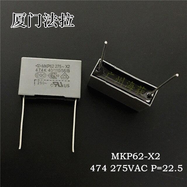 20 piezas Condensador de película gris, Faratronic MKP62 0,47 UF 275VAC 470NF P22.5MM FARA MKP 474 275V, 0,47 uf/275vac 474/275VAC