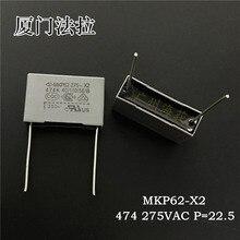 20 stücke Xiamen Faratronic MKP62 0,47 UF 275VAC 470NF P22.5MM FARA MKP 474 275V grau film kondensator 0,47 uf /275vac 474/275VAC