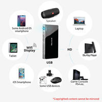 BYINTEK UFO P10ポータブルスマートホームシアターAndroid 7.1.2 OS WifiミニHD LED dlpプロジェクターfor iPhone 1080 4