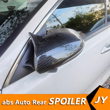 For Kia Optima K5 2016-2019 Back Mirror Covers Reversing mirror case cover Look ABS 2PCS Cover paste Side Mirror Covers