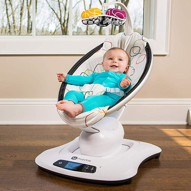 Super luxury electric rocking chair to coax baby sleeping artifact baby rocking chair to comfort cradle bed 1