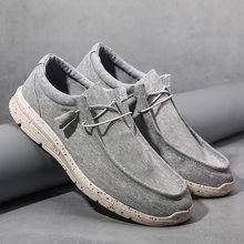 WEH light weight shoes Men Canvas Shoes Espadrilles Casual Shoes Men Loafers Comfortable Ultralight Lazy Boat Shoes Plus Size 48
