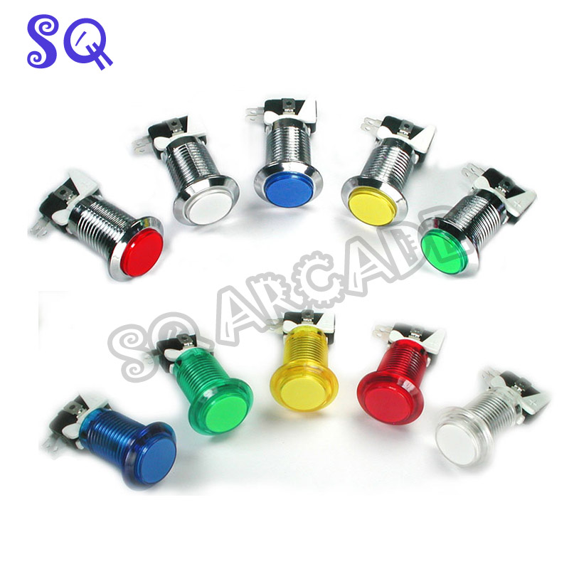 33mm Push Button Arcade Button Led Micro Switch Momentary Illuminated 12v Power Button Switch(China)