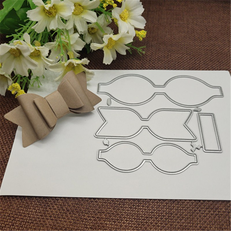 Heart Border Lace Bow Metal Cutting Dies Craft Stamps Die Cut Embossing Card Make Stencil Frame