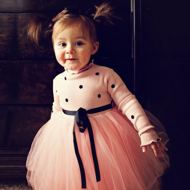 Baby Long Sleeve Dress for Girl Children Costume Gift School Wear Kids Party Dresses for Girl 1 2 3 4 5 Years Holiday Clothes 1