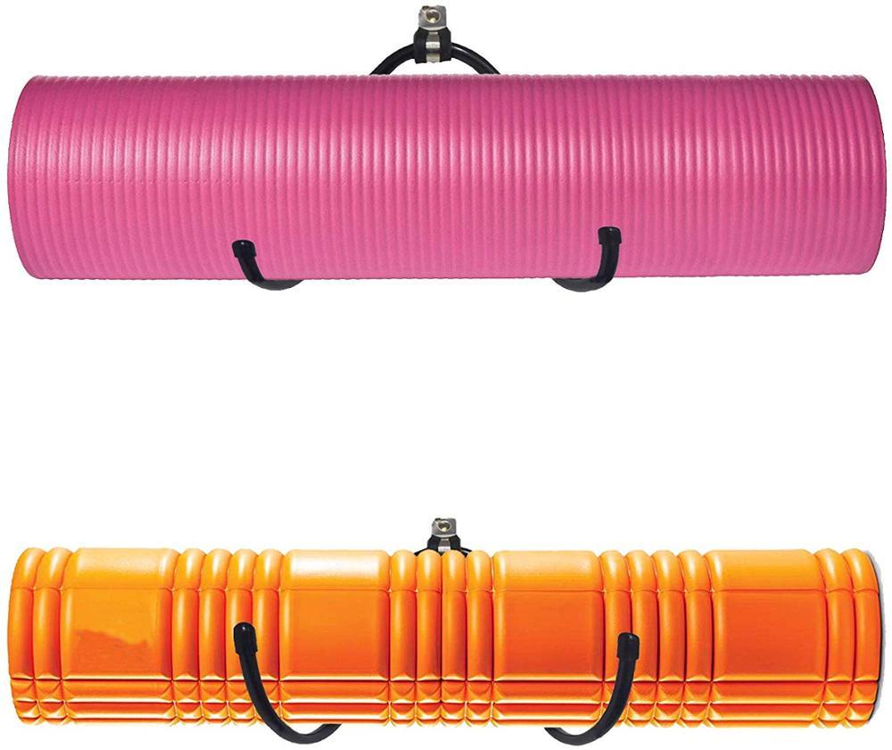 Yoga Mat Storage Foam Rollers Rack Rolled Bath Towels Holder Shelf Solid Quality Wall Mountable For Bathroom Yoga Room Yoga Ma Tool Parts Aliexpress