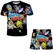 Summer Super Zings T Shirt And Short Suits Toddler Girls Sets Top+shorts 2pcs Sets Sports Suit Children Sets Boys T Shirt short cheap LINLING unisex 4-6y 7-12y 12+y Novelty CN(Origin) O-Neck None Polyester Regular Fits true to size take your normal size