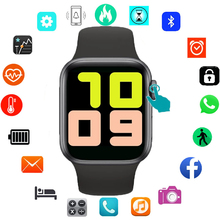 IWO 13 T500 Smart Watch Men Women Series 5 Bluetooth Call 44mm Blood Pressure Monitor Smartwatch Watch for Apple Android phone