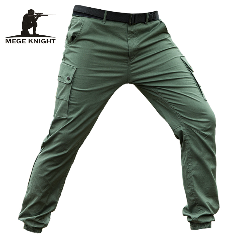 Mege Men Tactical Clothing Military Pants Army Combat Cotton Jogger Pants Streetwear Black Trousers Casual Style Dropshipping
