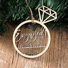 Christmas Engagement Ornament, Wedding Proposal Ideas, Engaged  Ring Ornament, Custom Engagement Christmas Ornament