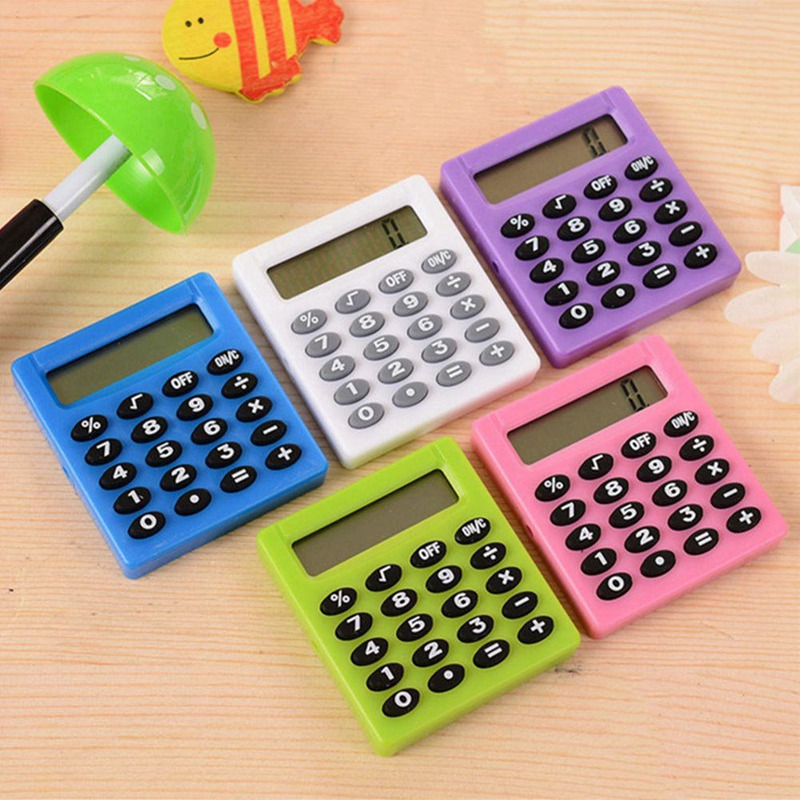 Cartoon Mini Pocket Calculator 8 Display Digits Portable Caculator Handheld Pocket Type Coin Batteries Calculator