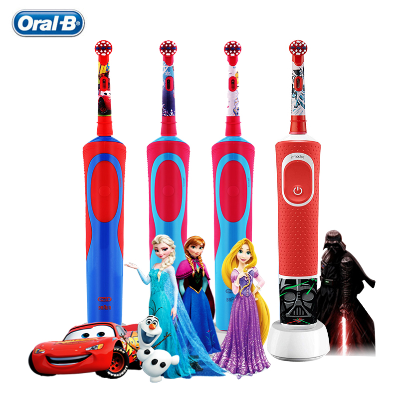 Oral B Children Recharging Electric Toothbrushes Ratation Type Waterproof Gum Care Power Safe OralB Teeth Brush for Kids Ages 3+ image