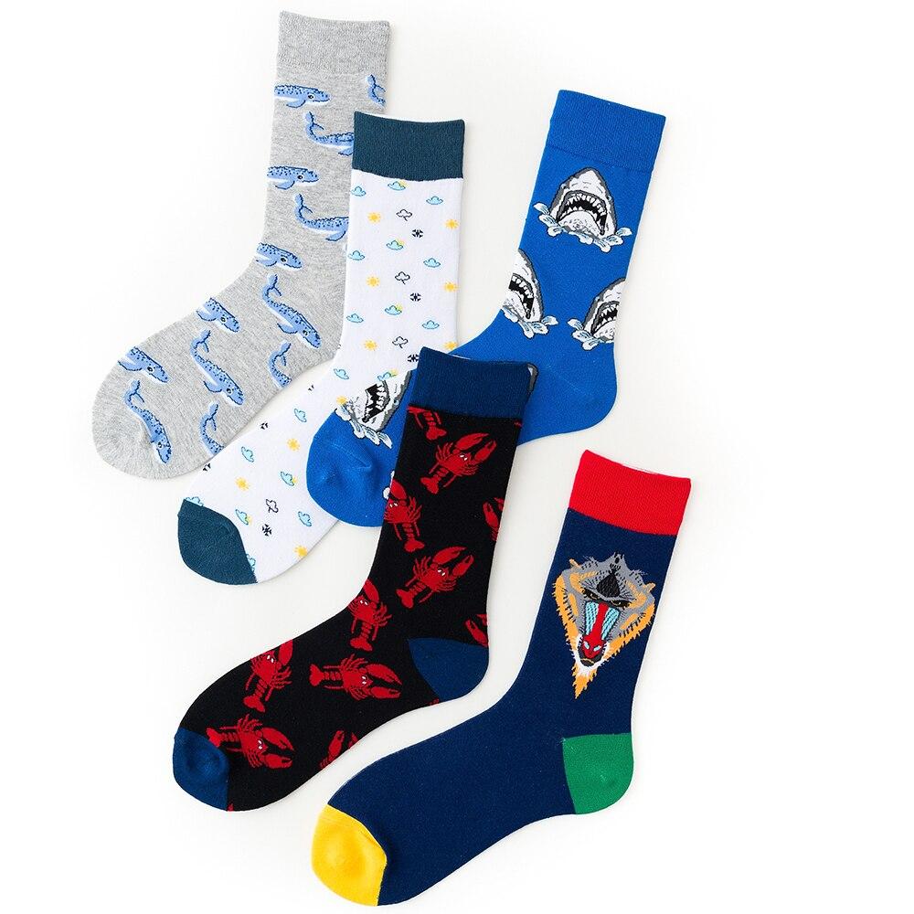 1 Pair Women Socks Cotton Fish Art Cool Socks Female Animal Lover Socks 36-43EUR