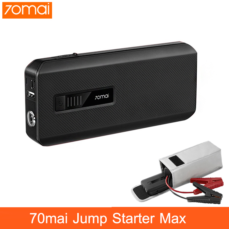NEW Xiaomi 70mai Jump Starter Max 18000mah 1000A Power Bank Car Jumpstarter Auto Buster Car Emergency Booster