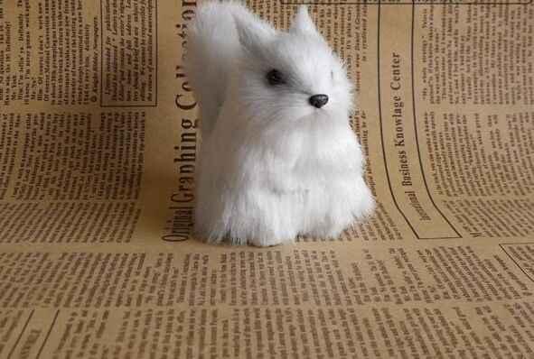 מיני בעלי חיים קשה דגם, פוליאתילן & פו פרוות סימולציה ינשוף צבי ארנב אבזר מלאכת בית שולחן העבודה קישוט צעצוע מתנה a011