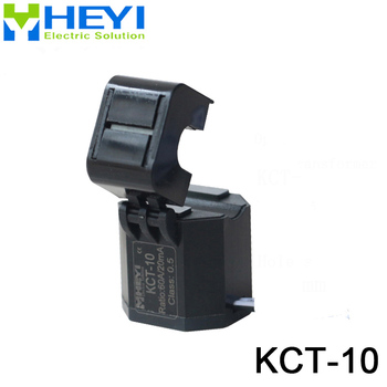 KCT-10 New Hinge Designed split core ct open type current transformer 60A/20mA Class 0.5 with 1m wire current transformers high quality current sensor transformer dl ct08cl10 20a 10ma 2000 1 60a micro precision current transformer toroidal miniature