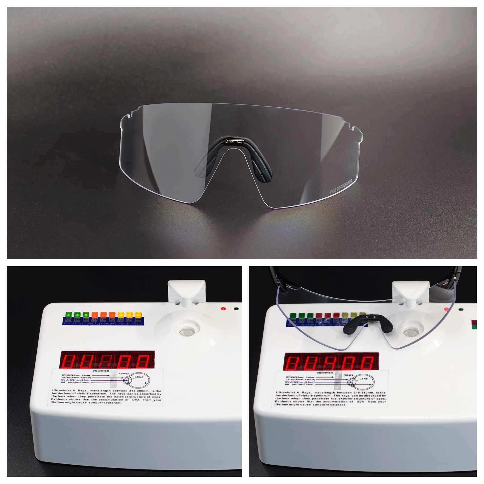 Очки велосипедные фотохромные, 1 линза, UV400, для горных и шоссейных велосипедов