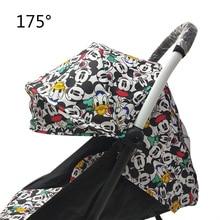 175 מעלות עגלת אביזרי עבור תינוק יויה Babyzen Yoyo מושב ספינות שמש צל כיסוי מכסה המנוע תינוק זמן Pram Pad מזרן