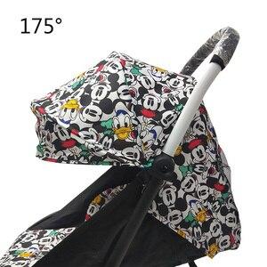 Image 1 - 175 derece arabası aksesuarları bebek Yoya için Babyzen Yoyo koltuk gömlekleri güneş gölge kapak Hood bebek zaman arabası yastık pedi yatak