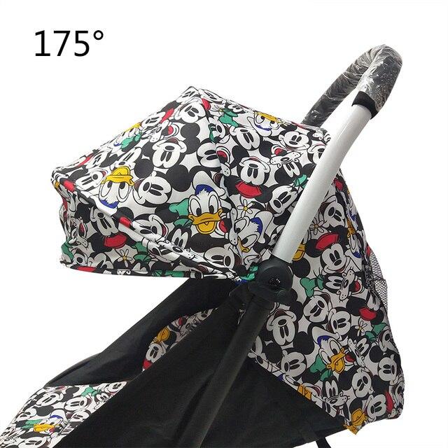 175 derece arabası aksesuarları bebek Yoya için Babyzen Yoyo koltuk gömlekleri güneş gölge kapak Hood bebek zaman arabası yastık pedi yatak