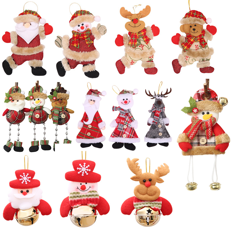 2020 New Year Merry Christmas Ornaments Christmas Gift Santa Claus Snowman Tree Toy Doll Hang Decorations For Home Xmas