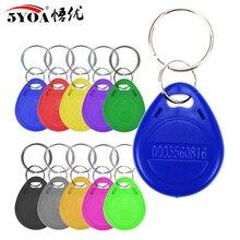 50pcs RFID 125 khz EM4100 Key Tag Keyfobs Ring Chip Keytab TK4100 Tags 125khz Read Only