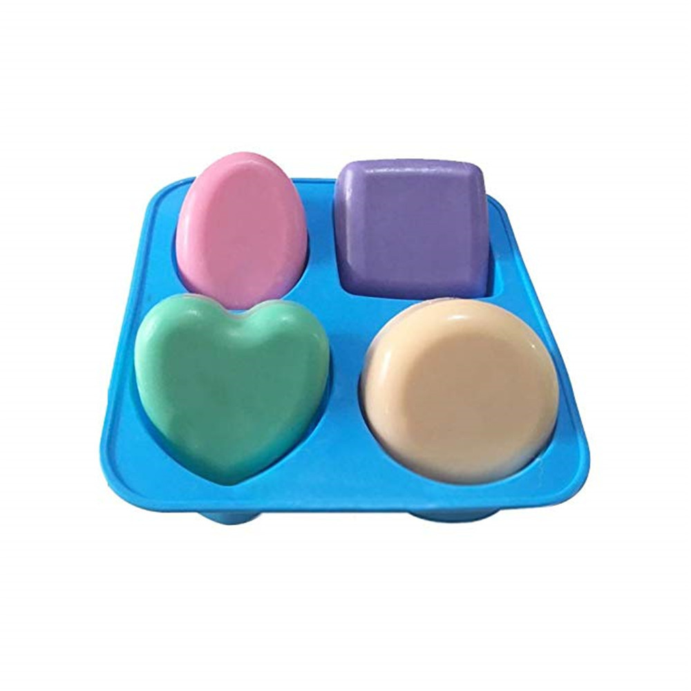 Classical Silicone Soap Mold Round Heart Soap Candle Craft Mould Nonstick Square Cake Baking Tool DIY Pudding Jello