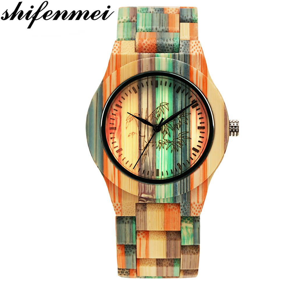Wooden Watch Vintage Luxury Brand Bamboo Quartz Shifenmei Business Natural-Wood Relogio