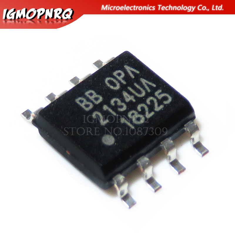 10PCS <font><b>OPA2134UA</b></font> SOP8 High Performance AUDIO OPERATIONAL AMPLIFIERS OPA2134 SOP SOP-8 image