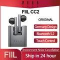Original FIIL CC 2 CC2 Drahtlose Bluetooth 5,2 Kopfhörer TWS Gaming Headset Noise Cancelling Ohr Knospen ENC Kopfhörer Typ-c Ohrhörer