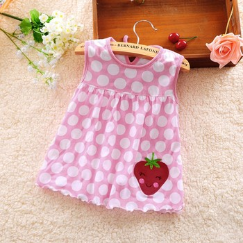 Summer Baby Dress New Girls Fashion Infantile Dresses Cotton Children's Clothes Flower Style Kids Clothing Princess Dress Tees image
