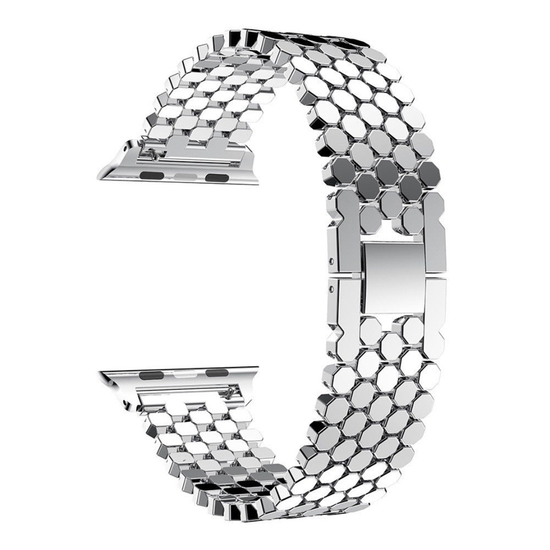 Shellhard Stainless Steel Wrist Band Strap For Apple Watch 3 2 1 38mm/42mm Link Bracelet Wrist Watchband For IWatch Accessories