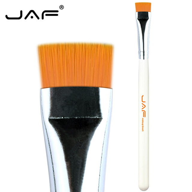 JAF 1 PCS Eye Makeup Brush Flat Eyeliner Eyebrow Blending Beauty Make Up Brush Soft Nylon Hair 3 Colors for Choose 07SHYE 3