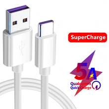 Type C USB Cable 5A Super Charging Data Cord For Huawei P10 P20 Pro Mate9 Mate10 Mate 3.1 Supercharge