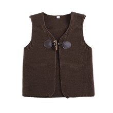 Kids Girls Boys Vests Waistcoat Button Children Knitted Outerwear Infants Tops Coats Autumn Solid Warm Clothing  Top