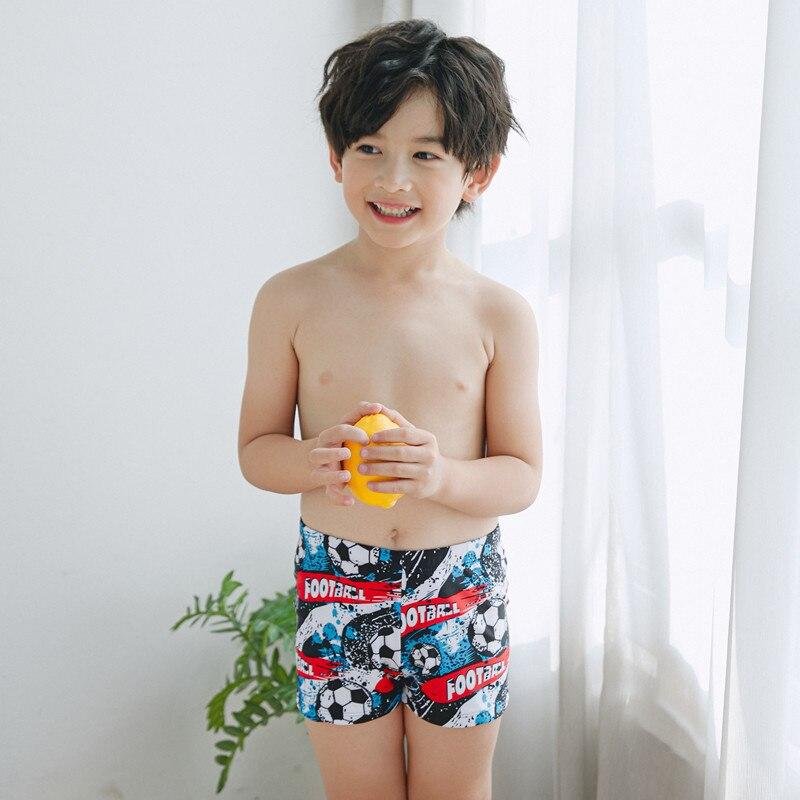 South Korea New Style CHILDREN'S Swimwear BOY'S Football Basketball Pattern Split Type Boxers Swimsuit CHILDREN'S Quick-Dry