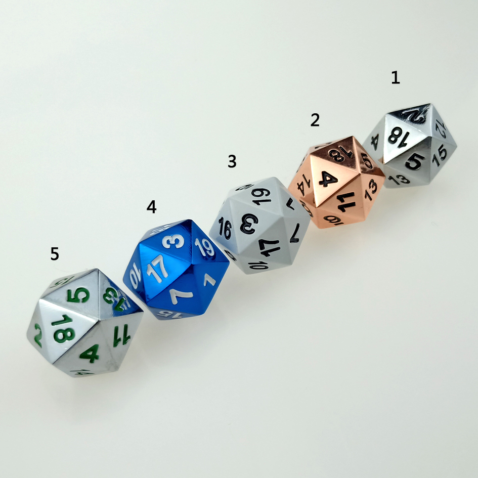 Rollooo Single Metal Dice 20 Sided D20s