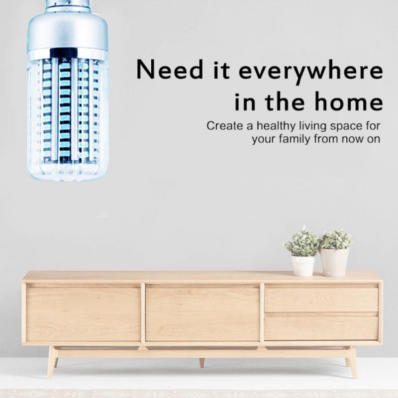 40W UV Germicidal Lamp Smart Timing E27 Ultraviolet LED UVC Corn Bulb Home Clean Air Kill Mites Disinfection Sterilization Light